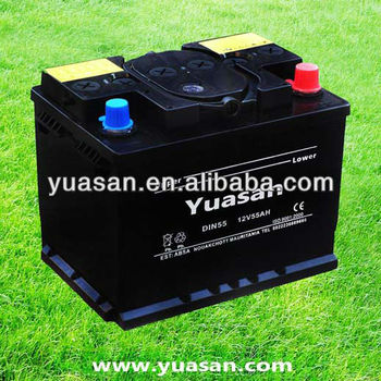 Yuasan Professionally Producing Lead Acid DIN 12V 55AH Dry Best Car Battery Factory
