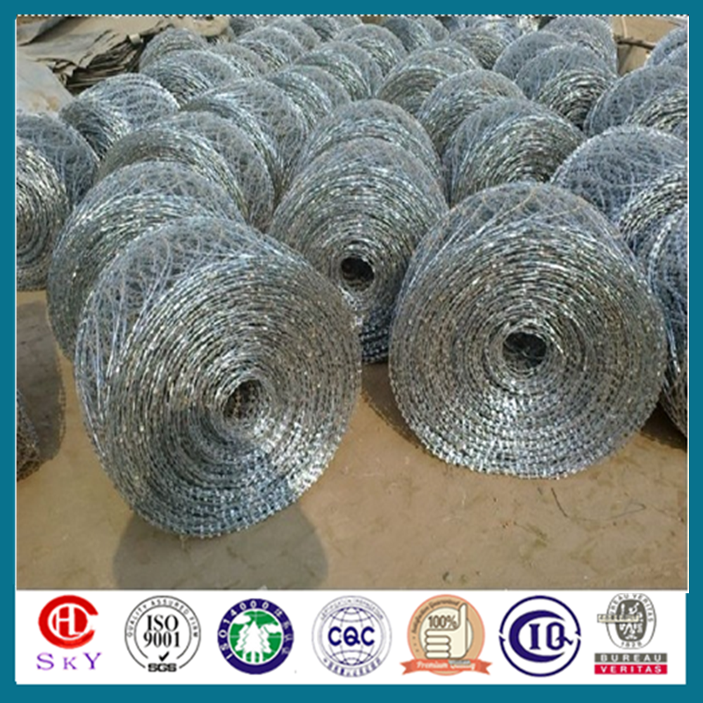 barbed wire length per roll(China manufacturer+ ISO9001)