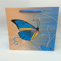 the butterfly printing paper bag