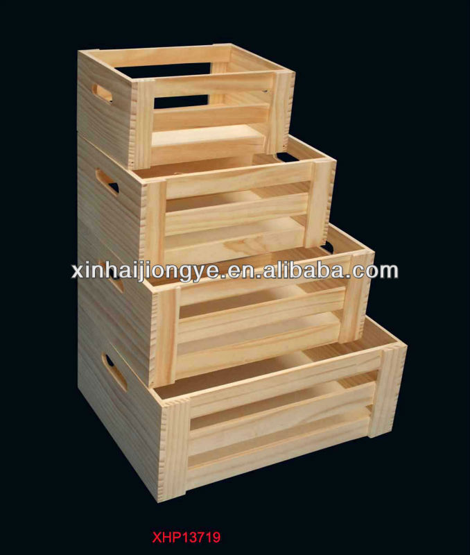 Unfinished wooden crate buy unfinished wooden crate wood for Buy wooden fruit crates