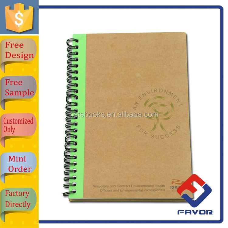 2015 promotional gift personal recycled lined journal notebook