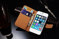 Factory wholesale price for small MOQ universal leather phone case for iphone 4s