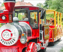 Trackless fun park electric mall trains for kids