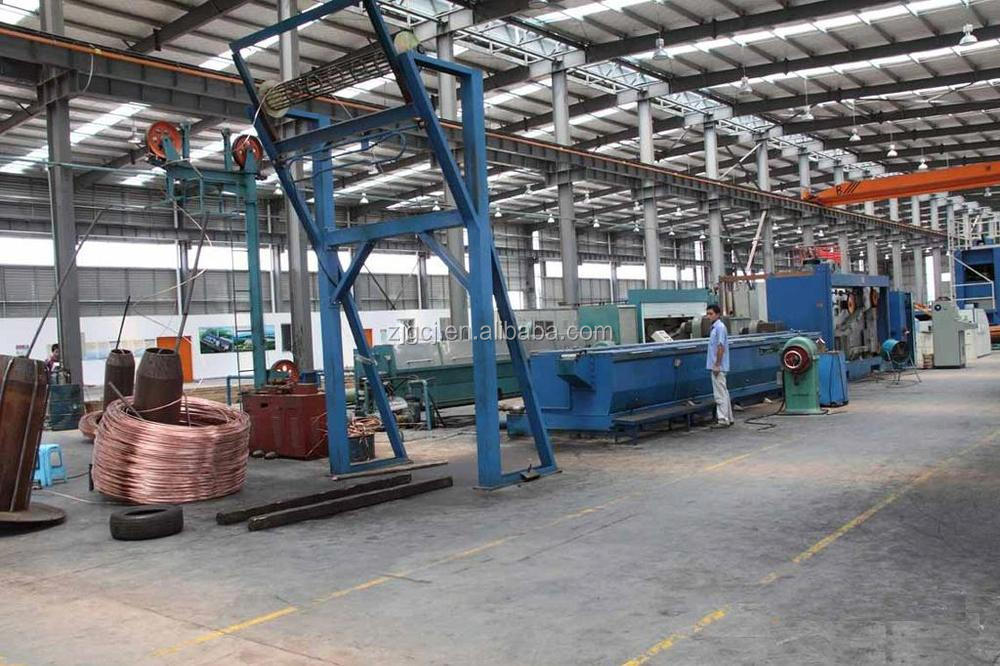 Large Copper Rod Breakdown machine / wire drawing and annealer