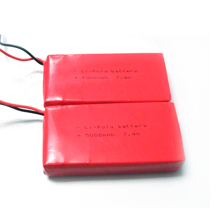 Factory price wholesales aa 5000mah 7.4v rechargeable lithium polymer battery