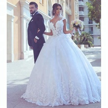 Beauty Sweetheart Neckline Wedding Dress Low Back Ball Gown Lace Pakistani Bridal Dresses