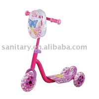Best pink clolor children scooter with 3 wheels (WJ278221)