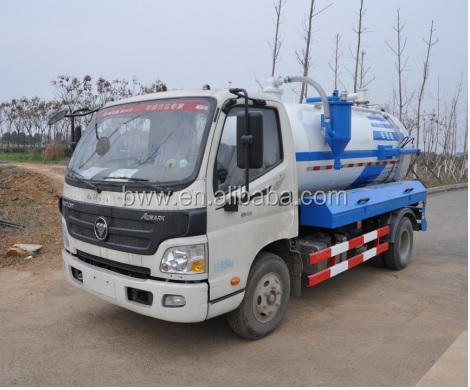 Foton 4*2 vacuum sewage tanker suction tank truck for sale