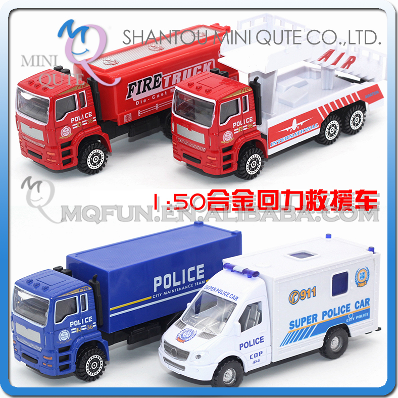 Mini Qute kids 50:1 Die Cast pull back alloy fire control fighting truck vehicle diecast model car educational toy NO.MQ G1