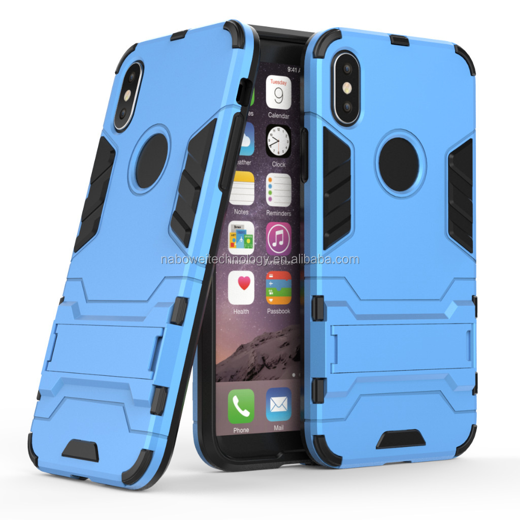 Factory price armor cell phone case mobile accessories shockproof phone holder phone case for iphone 7 8Plus X XR XS MAX