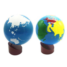 Best selling Educational toys Montessori materials kids World map globe