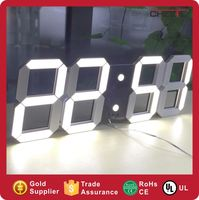 Alibaba NEW Frame Portable Remote Control LED Clock Plastic Table Clock