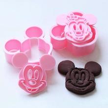 Hot Sale Mickey/Minnie Fondant Cake Cookie Decorating Sugarcraft Mold Plunger Cutter 2pcs