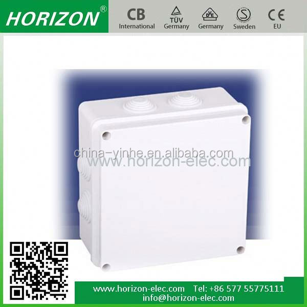 ce rohs approved plastic waterproof electric enclosure distribution decorative junction box covers