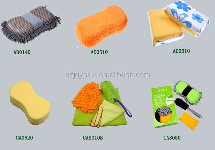 Microfiber chenille car wash mitt car polishing glove