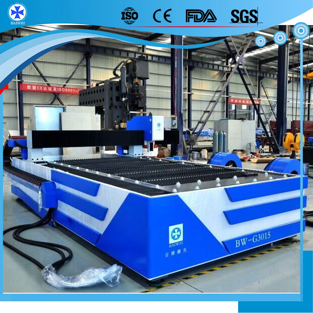 China 1KW fiber stainless steel laser cutting machine for agricultural / advertising cnc laser cutter price