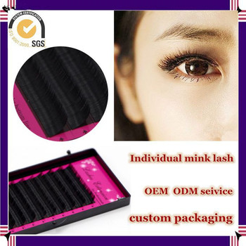 Milkyway hot sell all size J B C D curl premium handmade synthetic individual mink eyelash,mink lash extensions
