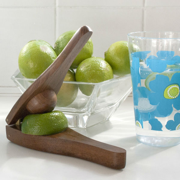 Recycled Teak Wood Lime Squeezer