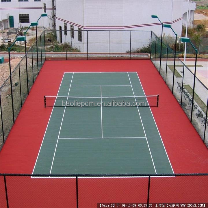 Silicone Pu Material Court For Tennis Indoor Sport