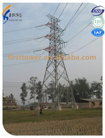 Electric power 220kv transmission line angular steel towers