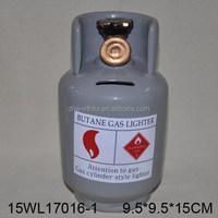 Promotion gift propane gas tank ceramic coin bank for money saving