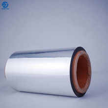 Print vapor barrier packaging metalized silver pet film