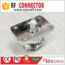 N Female jack Waterproof O-ring Flange 4 Hole Panel RF Connector Extended Pin