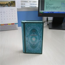 fashion design book shape money can pack tin case