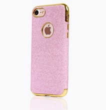 Most Popular Electroplating Edge pu Skin Back Cover TPU phone case for iphone 7 Plus