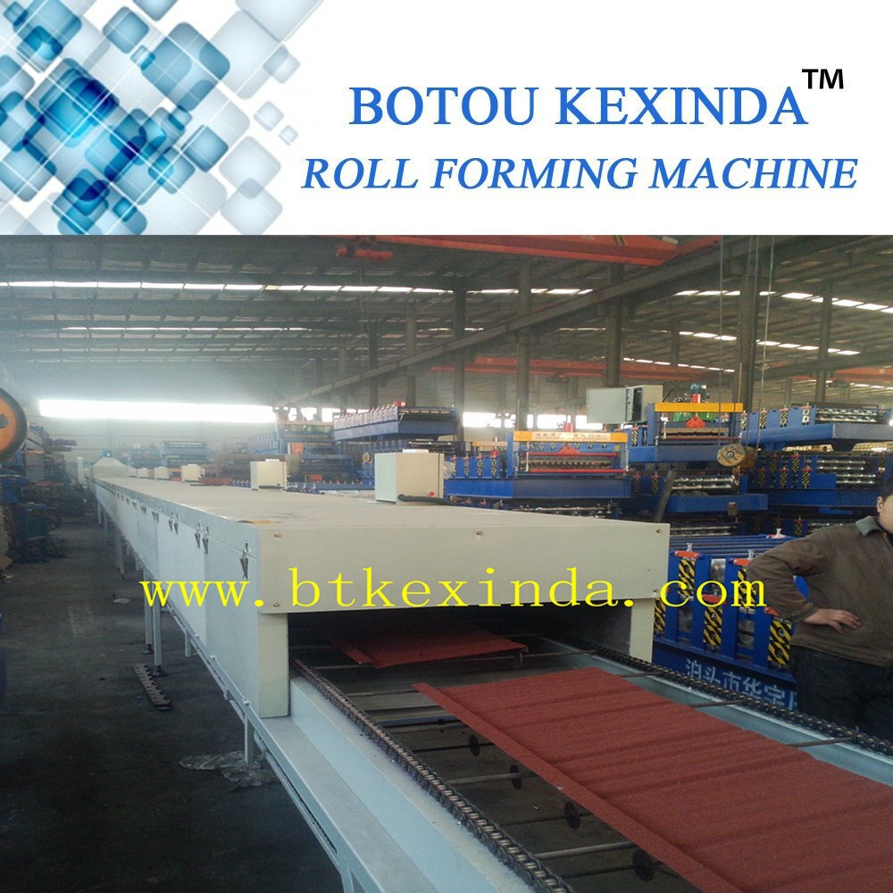 colorful stone coated metal roofing tiles/metal roof tile machine/roll forming machine