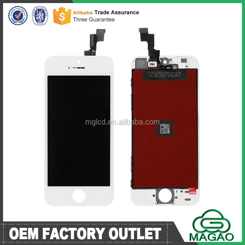 Wholesale dealer for iphone 5s lcd with digitizer assembly, mobile phone lcd for iphone 5s lcd
