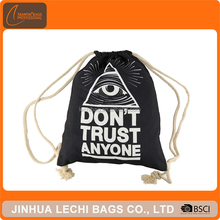 High quality promotional hot canvas drawstring bag