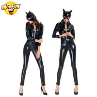 Sale cat woman costume shirt ca twoman bat man costume cat woman jumpsuit costume