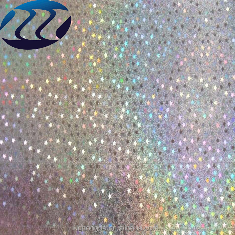 Transparent little star sparkling holographic lamination film for gift wrapping