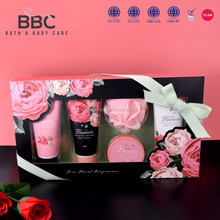 BBC shampoo shower gel body butter body care bath and wash set Rose Fleuriste 001