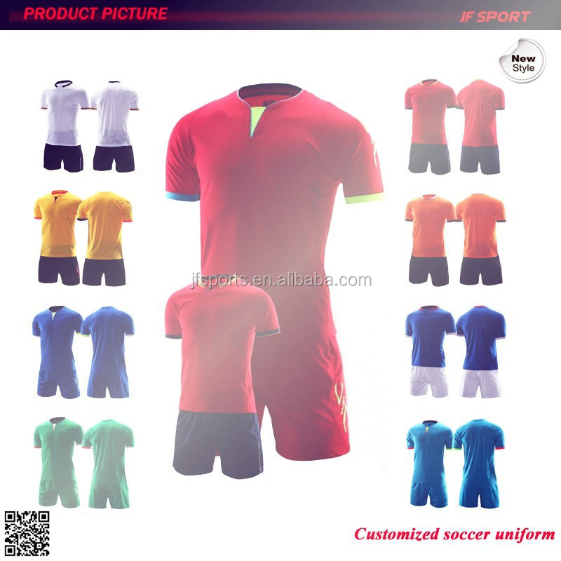 2014 thailand quality polyester wholesale custom football soccer jersey