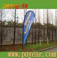 mesh banner promotional cheap teardrop flag wing banner