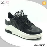 Leather Casual High Heel Footwear Breathable
