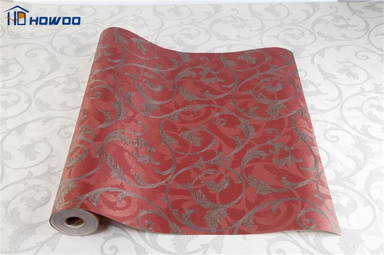 Chinese classic style red and white wallpaper for home decoration