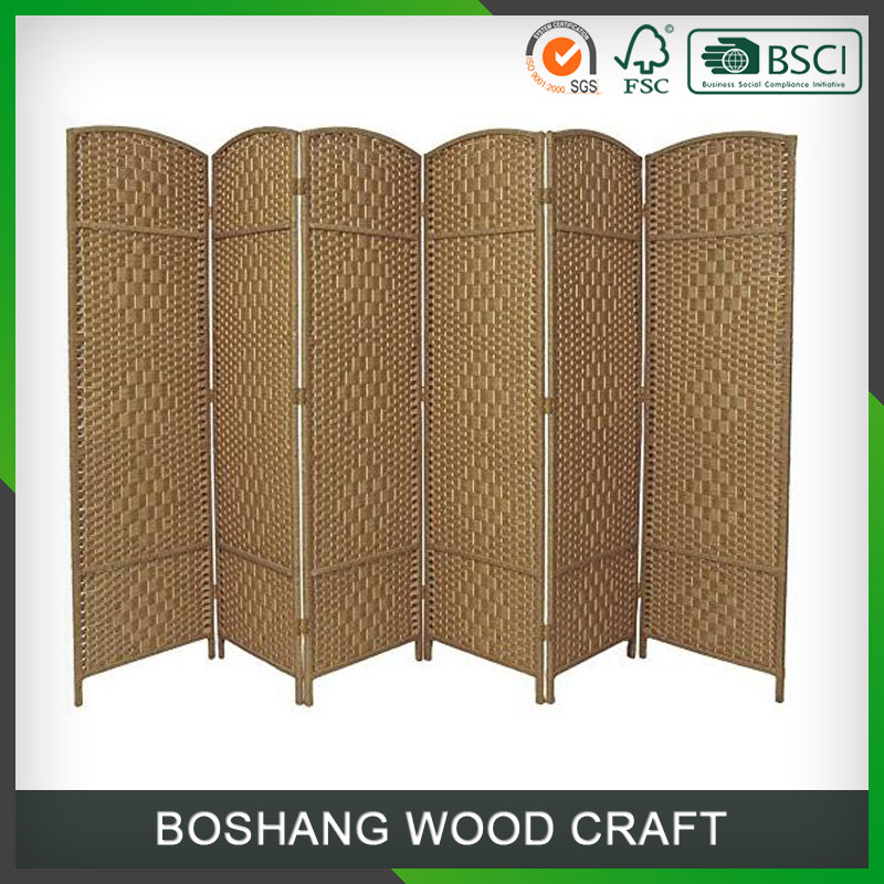 Custom Cheap Folding Natural Coloured Room Divider