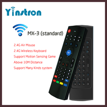 High Quality MX3 Remote Control Air Mouse 2.4G Wireless Fly Mouse Keyboard for Android Mini PC TV Box