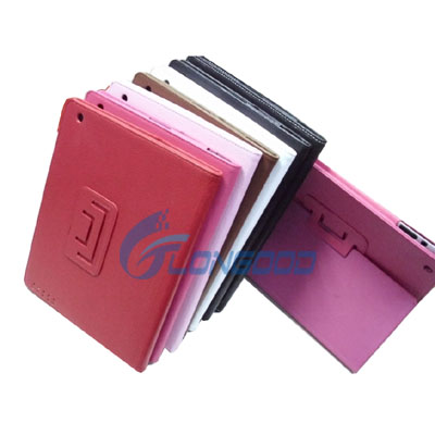 Tablet Flip Leather Case for iPad 2 ,9.7 inch Wake up /Sleep/Stand Function Three in one Silicone Case