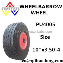 3.50-4 Platic rim trolley PU wheels