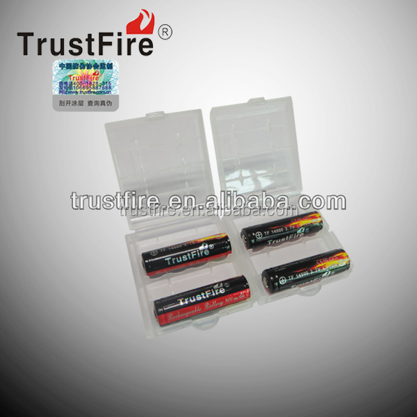Trustfire plastic battery case for 14500 and other rechargeable battery
