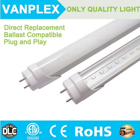 Fluorescent tube replacement led ballast compatible t8 tube 20w 4ft
