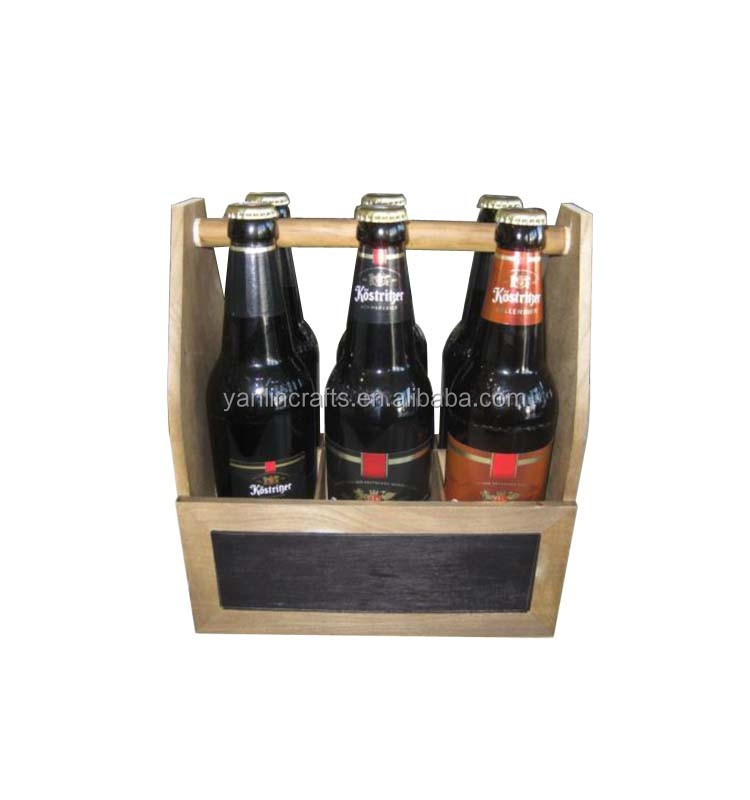 Custom wooden carrier for beer 6 pack wooden beer bottle carrier