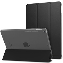 Smart cover for 2017 New ipad case, Good Hand Feel Folding Stand Smart Magnetic Leather case for New ipad 9.7''inch