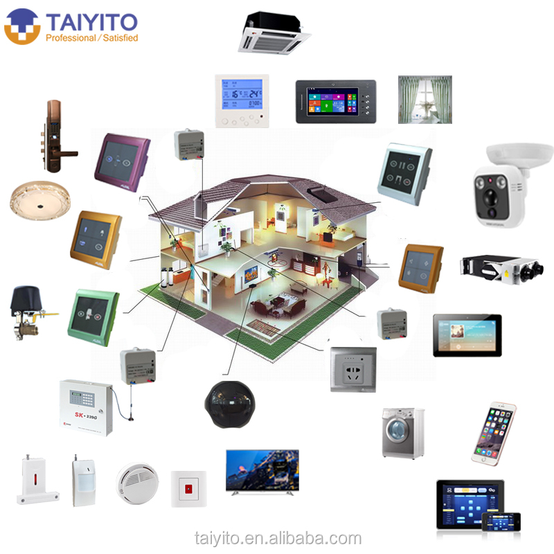 taiyito zigbee smart home system for app controlling in. Black Bedroom Furniture Sets. Home Design Ideas