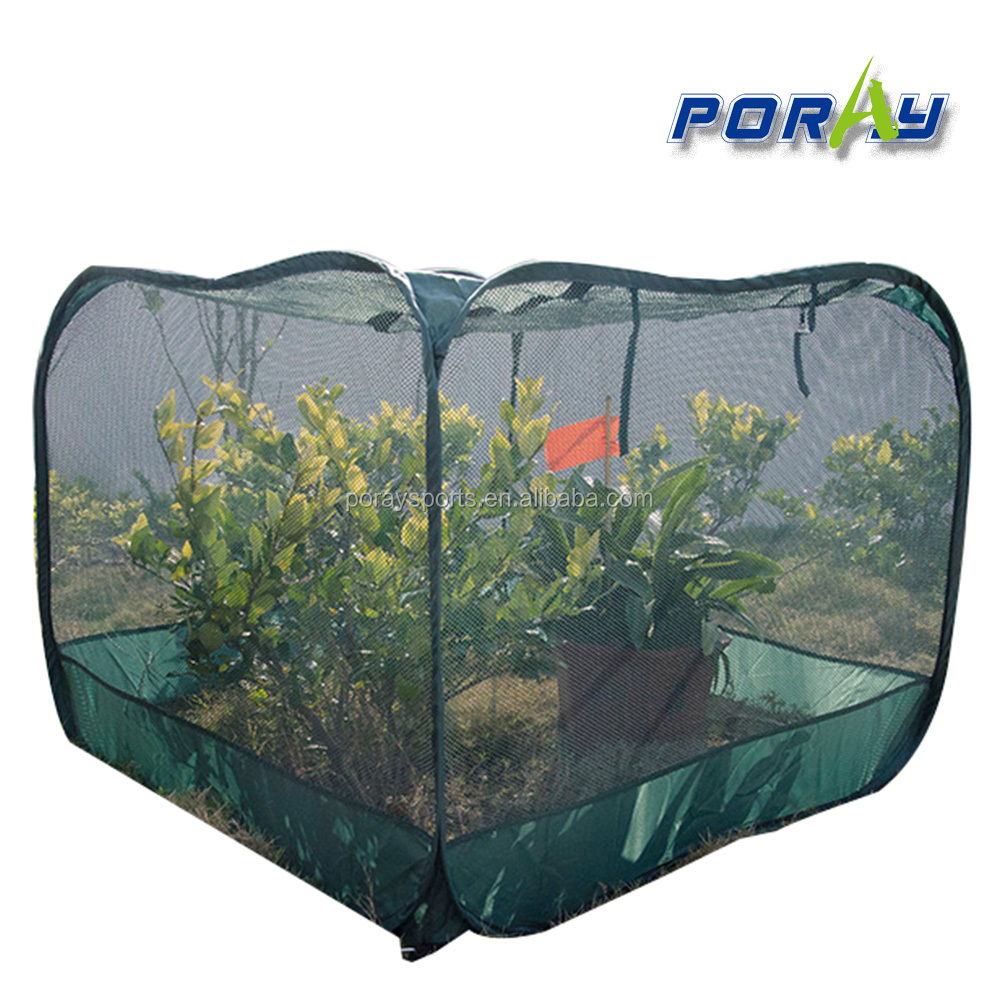 poray 100*100*75cm new dark green <strong>netting</strong> Pop Up Clear nets Cover for garden