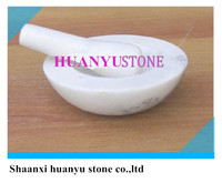 White marble pestle & mortar